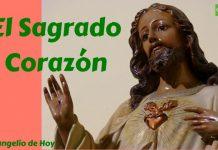 El Sagrado Corazón abierto brota sangre y agua