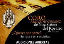 Inscripcion coro arquidiocesano parana