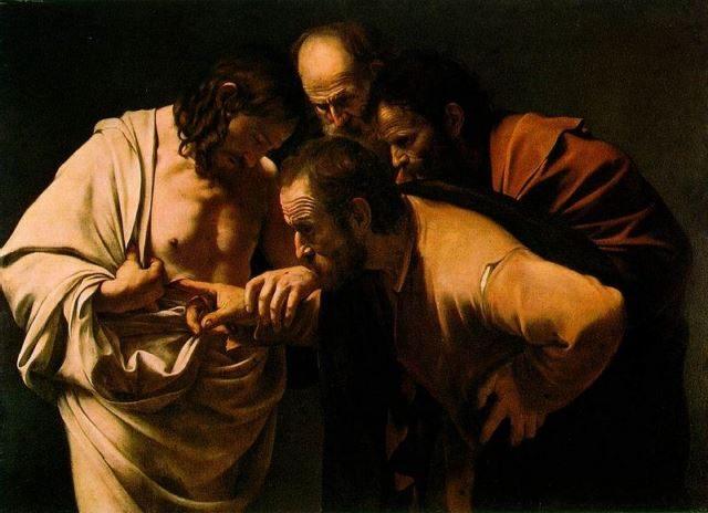 La incredulidad de Tomás de Caravaggio