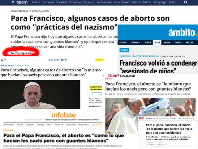 Papa Francisco Aborto Diarios