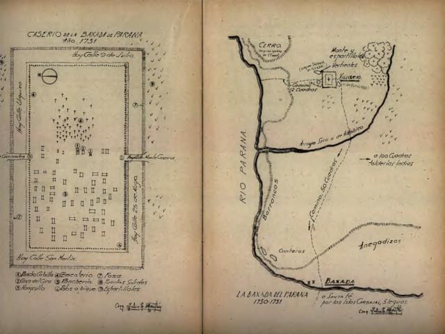 Plano caserio Parana 1730