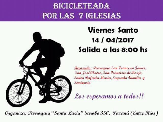 bicicleteada Santa Lucia viernes santo 2017