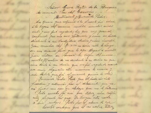 Primer parte carta devolución