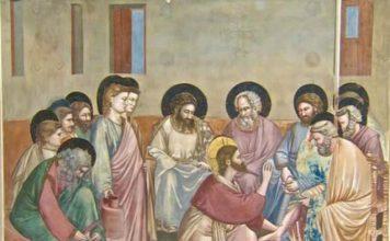 lavatorio pies Giotto